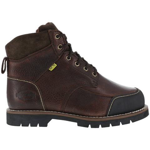 Iron Age Mens Brown Leather 6in Met Guard Work Boots Dozer Steel Toe