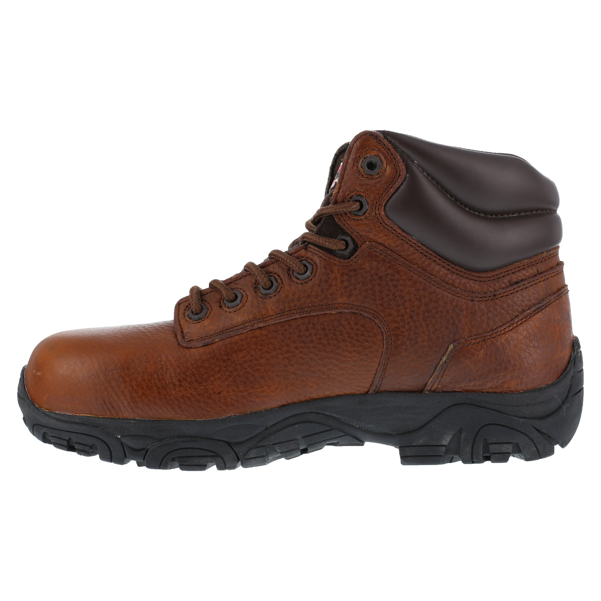 b3b4ea163b6 Iron Age Mens Brown Leather 6in Work Boots Trencher Composite Toe ...