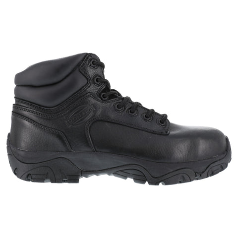 Iron Age Mens Black Leather 6in Work Boots Trencher Composite Toe