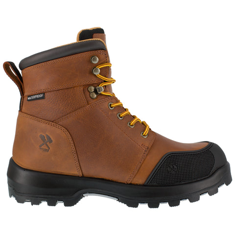 Iron Age Mens Brown Leather Work Boots 6in Immortalizer WP