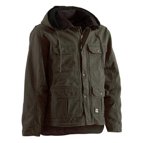Berne Mens Olive Duck 100% Cotton Contractor Coat