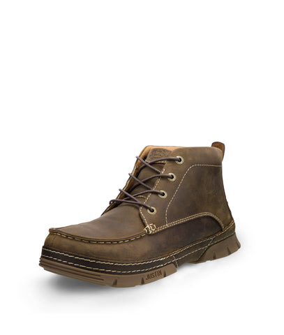 Justin ST EH Mens Brown Tobar 4 Eye Leather Work Boots