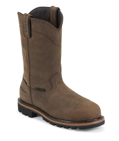 Justin Mens Wyoming Leather Work Boots Comp Toe WP Worker II