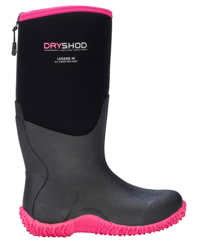 Dryshod Legend Hi Womens Foam Black/Pink Work Boots
