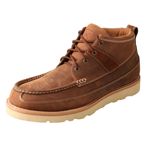 Twisted X Mens Brown Leather Oiled Ankle Casuals for Cowboys Boots