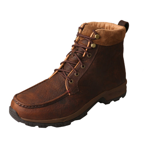 Twisted X Mens Dark Brown Leather WP CT 400G Work Boots