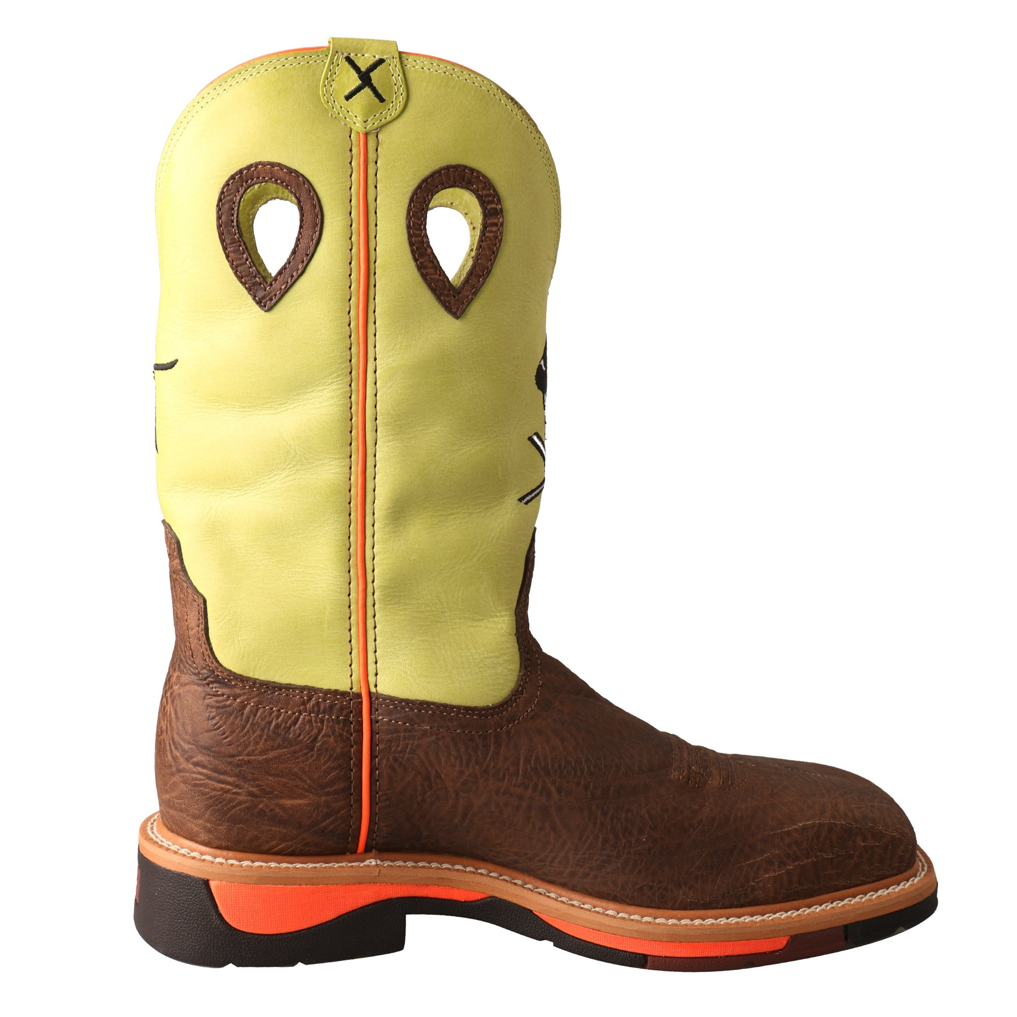 cb6bc80ce24 Twisted X Mens Yellow Leather Steel Toe Lite Weight Cowboy Work ...