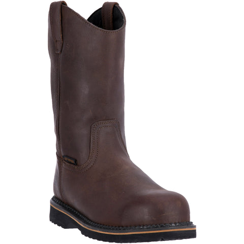 McRae Industrial Mens Brown Leather 11in Pull-On Steel Toe Work Boots