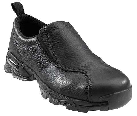Nautilus Womens Steel Toe Athletic Slip-On M Black Leather Shoes