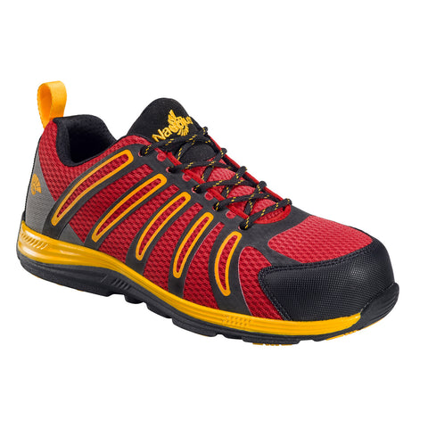 Nautilus Mens Nano Tech Comp Toe EH Athletic M Red Action Leather Shoes