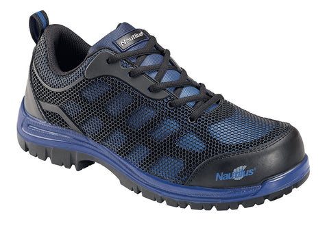Nautilus Mens Composite Toe EH Athletic W Blue TPU Mesh Shoes