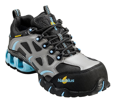 Nautilus Womens Composite Toe EH Waterproof Athletic W Blue Nylon Shoes