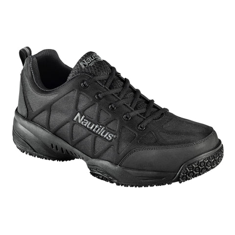 Nautilus Mens Composite Toe Athletic W Black Action Leather Shoes