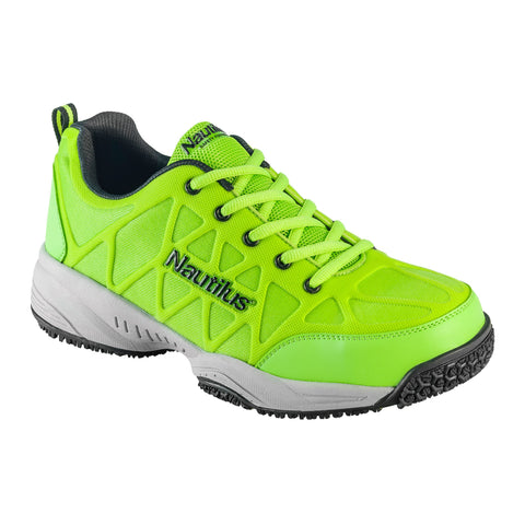 Nautilus Mens Composite Toe Athletic M Lime Action Leather Shoes
