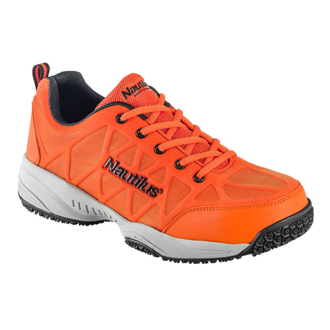 Nautilus Mens Composite Toe Athletic W Orange Action Leather Shoes