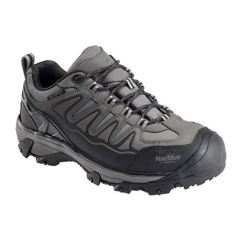 Nautilus Mens Black Leather Steel Toe WP EH Hiker Work Shoes