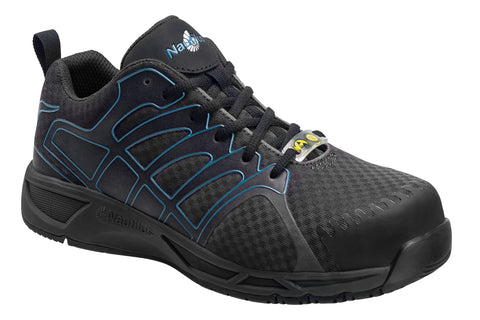 Nautilus Mens Comp Toe Adv ESD Athletic W Black Synthetic Shoes
