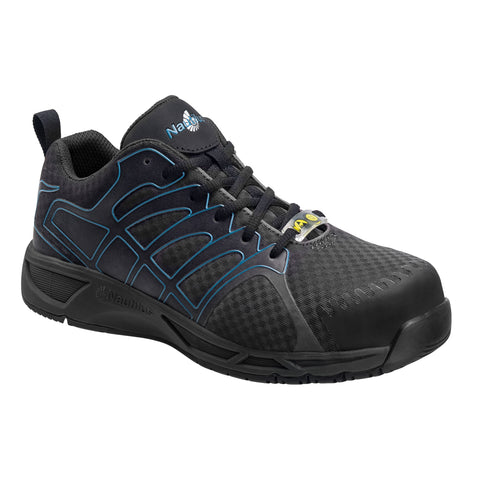 Nautilus Mens Black Mesh Soft Toe ESD Athletic Work Shoes