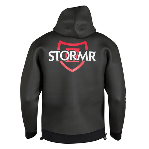 Stormr Mens Swell Hoodie Black 2mm Neoprene Micro-Fleece Waterproof
