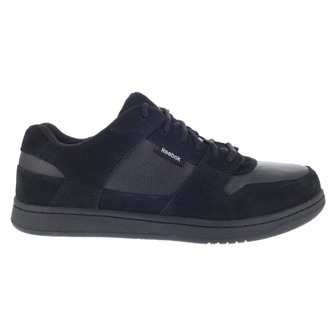 Reebok Womens Black Suede Leather Work Shoes ST Skate Oxfords