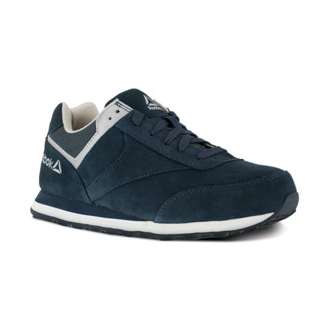 Reebok Womens Navy Suede Retro Jogger Oxford Leelap Steel Toe