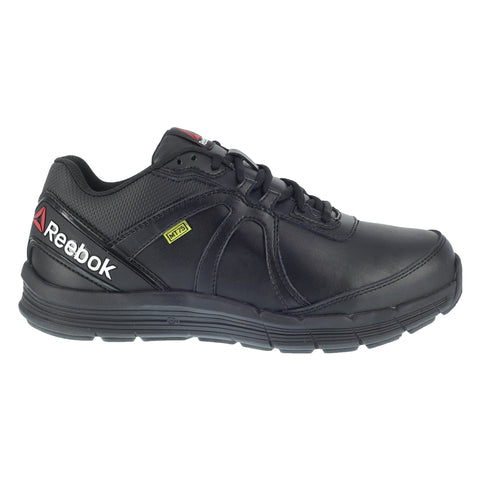 Reebok Mens Black Leather Work Shoes MetGuard ST SR Oxford