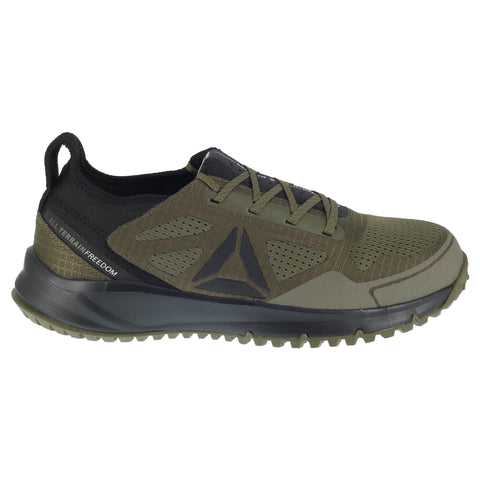 Reebok Mens Sage Green Mesh Work Shoes ST AT Trail Run Oxford