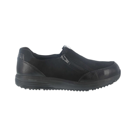 Rockport Womens Black Nubuck Leather Work Shoes Steel Toe Slip-On