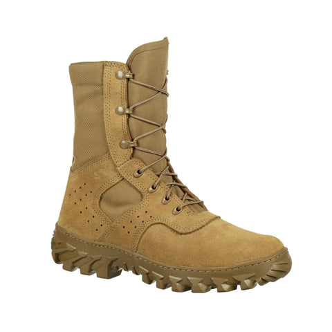 Rocky Mens Coyote Brown Leather S2V PR Jungle Military Boots