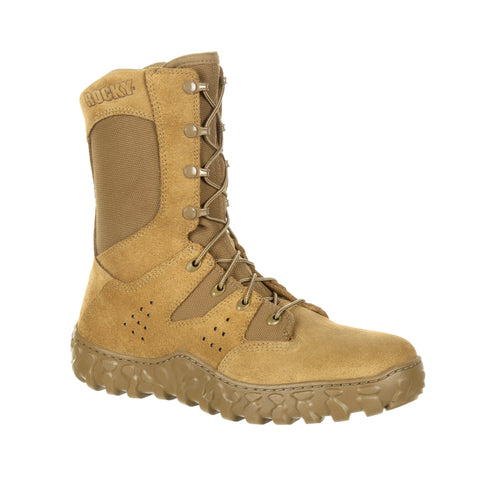 Rocky Unisex Coyote Brown Leather S2V Predator Military Boots