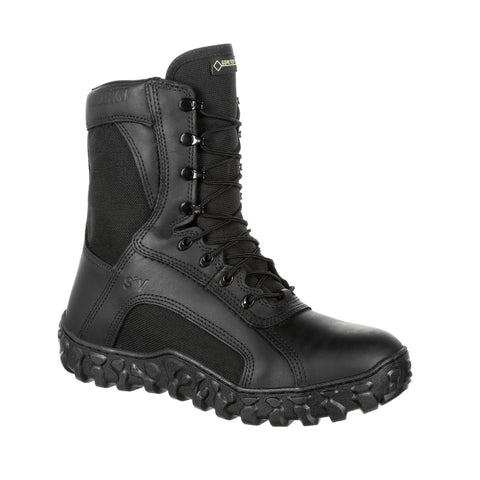 Rocky Mens Black Leather S2V Flight 600G WP Military Boots