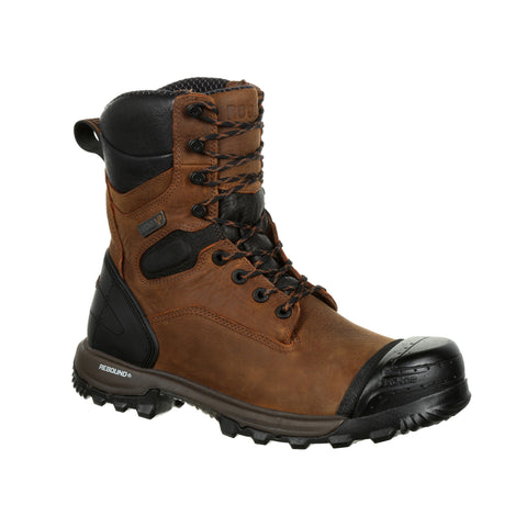 Rocky Mens Brown Leather WP XO CT Work Boots