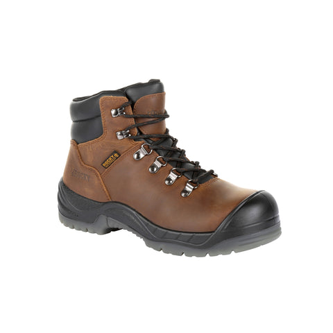 Rocky Womens Brown Leather WorkSmart CT Work Boots