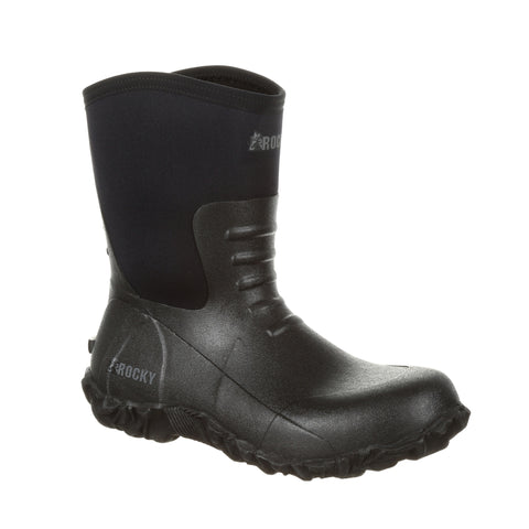 Rocky Mens Black Rubber Core Outdoor Chore Boots