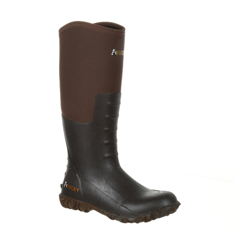 Rocky Womens Dark Brown Rubber Core Outdoor Chore Boots