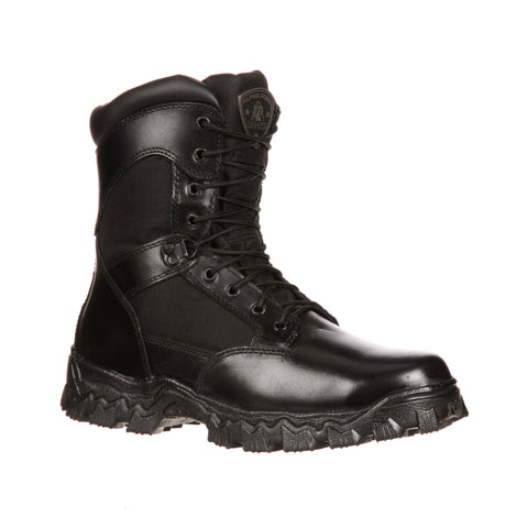 Rocky Mens Black Leather Alpha Force 400G WP Military Boots