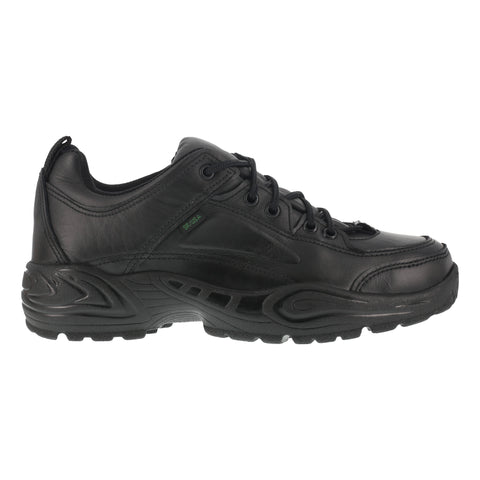 Reebok Mens Black Leather Work Shoes Postal Express Goretex Oxfords