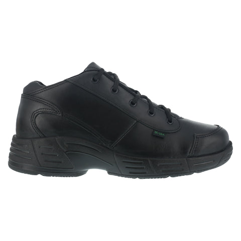 Reebok Mens Black Leather Work Shoes Postal TCT Mid Oxfords