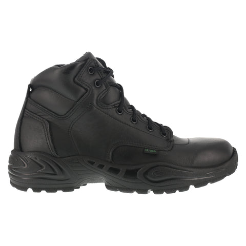 Reebok Mens Black Leather Work Boots Postal Express 6in Goretex