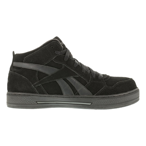 Reebok Womens Black Suede Hi Top Athletic Sneaker Dayod Composite Toe