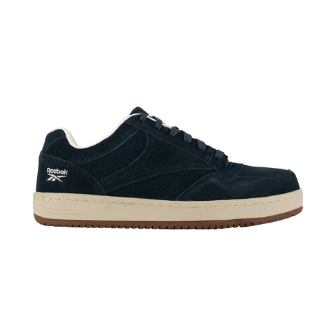 Reebok Womens Navy Suede Classic Skateboard Oxford Soyay Steel Toe
