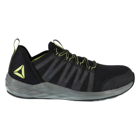 Reebok Mens Black/Neon Green Mesh Work Shoes Astroride ST