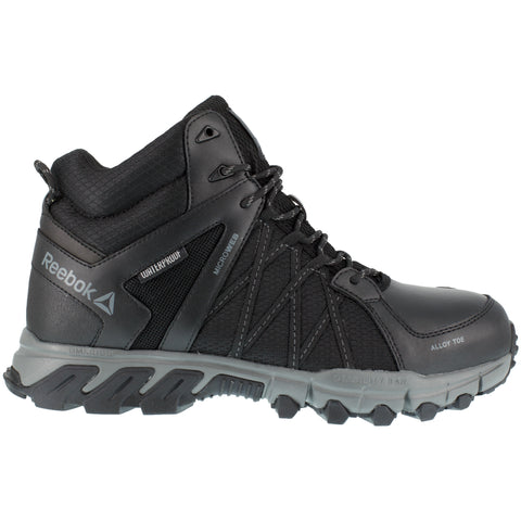 Reebok Mens Black/Grey Mesh Work Boots Athletic Mid Cut AT