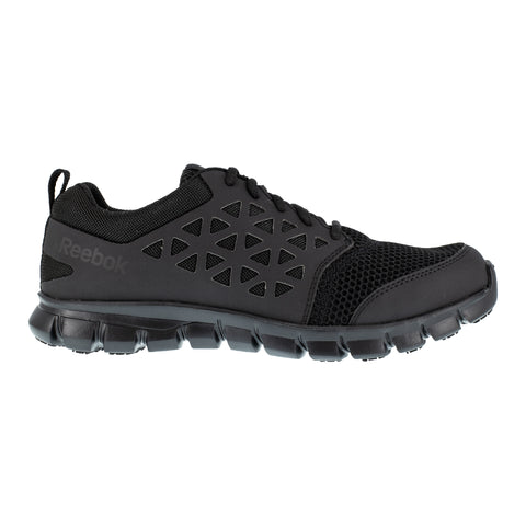 Reebok Mens Black Mesh Oxfords Athletic Sublite Soft Toe