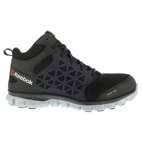 Reebok Mens Black Mesh Work Boots Sublite AT