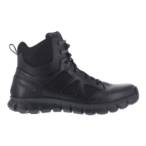 Reebok Womens Black Leather Military Boots Sublite Tactical
