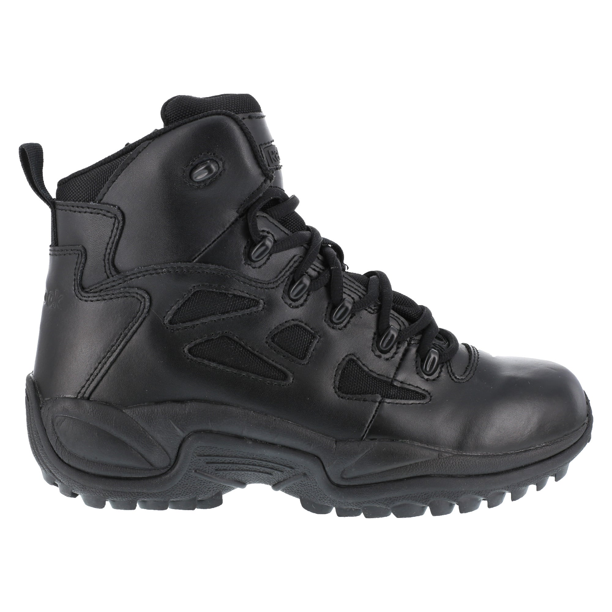 Reebok Mens Black Leather 6in Tactical Boots Rapid Response RB Soft ... 02dd67dac
