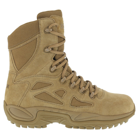Reebok Mens Coyote Leather Nylon Tactical Boots Raid Reponse RB Soft Toe