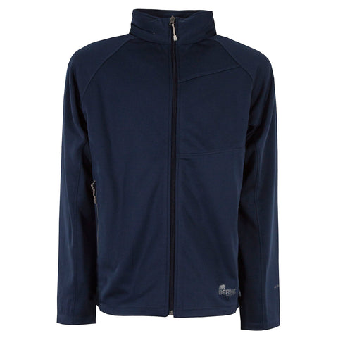 Berne Mens Navy Fleece Performance Full Crew Zip