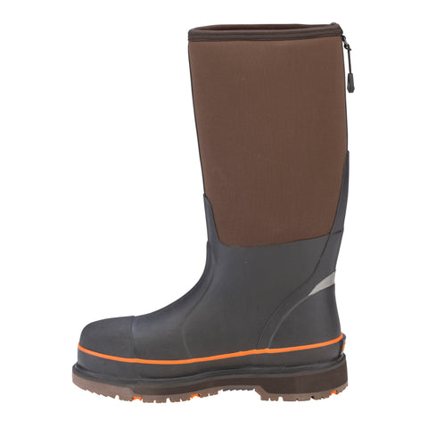 Dryshod Steel Toe Hi Wixit Mens Foam Brown/Orange Work Boots